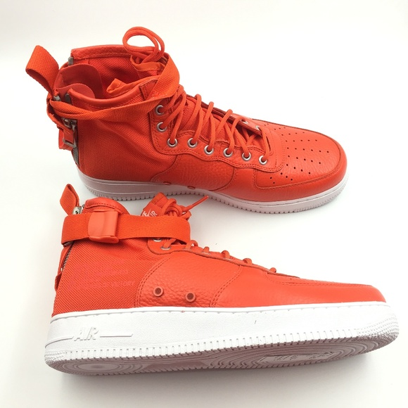 Nike Other - Nike Orange Team SF Air Force 1 Mid G0811661